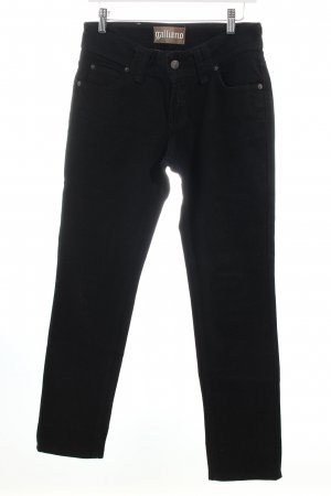 Galliano Slim Jeans schwarz Eleganz-Look