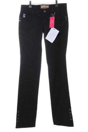 Galliano Straight-Leg Jeans schwarz Casual-Look