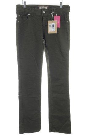 Galliano Straight-Leg Jeans olivgrün Casual-Look