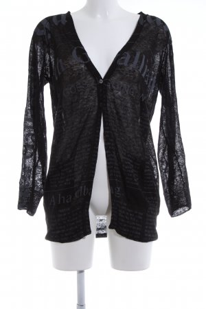 Galliano Strick Cardigan schwarz Casual-Look