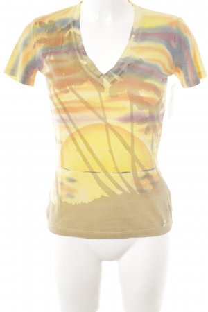 Galliano T-Shirt Allover-Druck Beach-Look