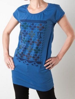 Galliano T-Shirt Blau (Gr. XXS, XS)