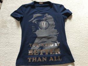 Galliano T-shirt donkerblauw Katoen