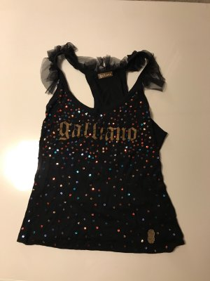 Galliano Frill Top black-gold-colored