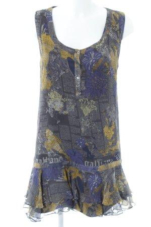 Galliano Tuniekblouse abstract patroon hippie stijl