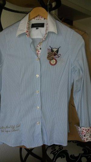 Galvanni Hemd Bluse Gr.S blau-weiß gestreift