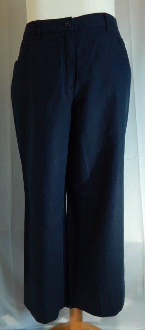Linen Pants dark blue mixture fibre