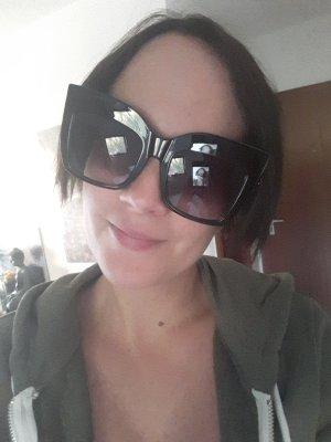 Gamiss Sonnenbrille Oversize Schwarz Gold