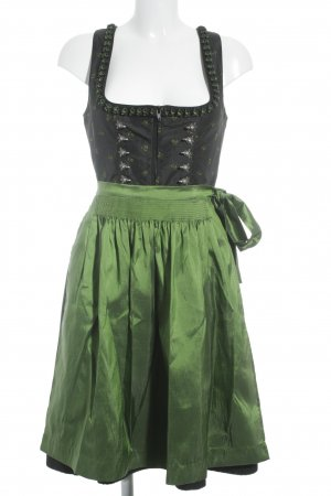 Gamsbock Dirndl bos Groen-zwart middeleeuwse stijl