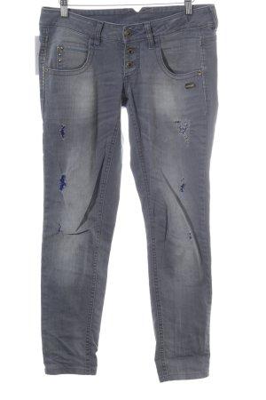 Gang 3/4-jeans lichtgrijs Jeans-look