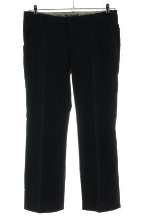 Gang Anzughose schwarz Streifenmuster Business-Look