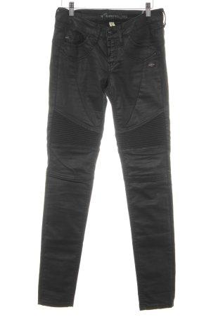 Gang Jeans da motociclista nero-talpa Colore sfumato Stile ciclista