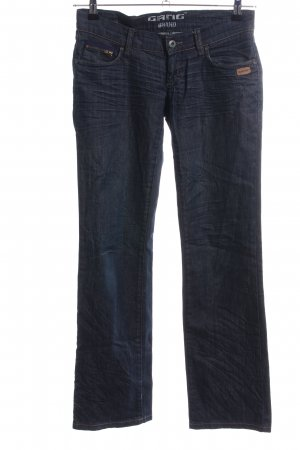 Gang Boot Cut Jeans blau Casual-Look