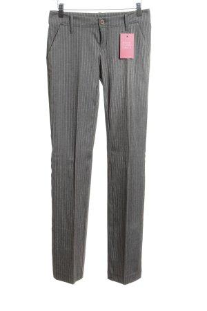 Gang pantalón de cintura baja gris claro estampado a rayas estilo clásico