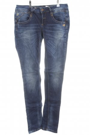 Gang Hüftjeans neonblau Jeans-Optik