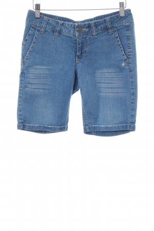 Gang Jeansshorts blau Used-Optik