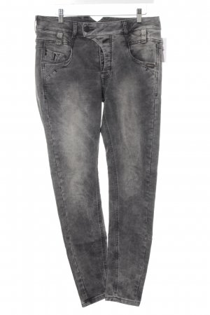 Gang Jeggings schwarz-hellgrau Washed-Optik