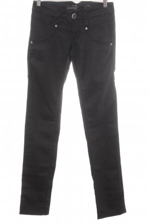 Gang Pantalon en cuir noir-blanc style universitaire