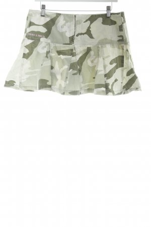 Gang Minirock Camouflagemuster Military-Look