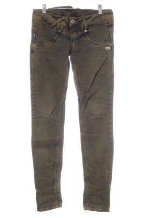 Gang Tube jeans bruin-zwart casual uitstraling