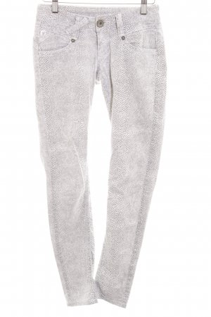 Gang Tube Jeans grey-white leopard pattern extravagant style