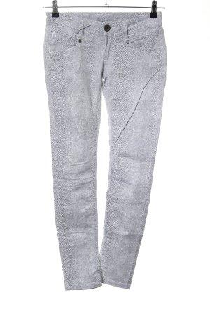 Gang Skinny Jeans hellgrau abstraktes Muster Casual-Look