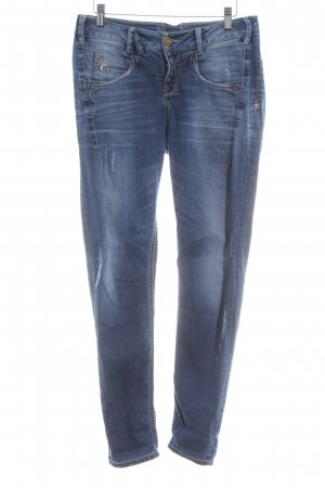 Gang Skinny Jeans blau Street-Fashion-Look