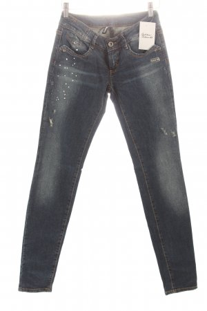 Gang Skinny Jeans dunkelblau Used-Optik