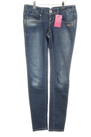 Gang Skinny Jeans dunkelblau-wollweiß meliert Casual-Look