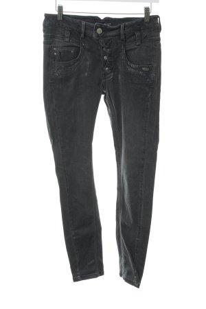 Gang Skinny Jeans dunkelgrau Glitzer-Optik