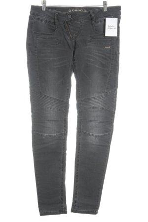 Gang Skinny Jeans grau-anthrazit Biker-Look