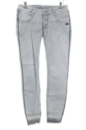 Gang Skinny Jeans hellgrau-grau Bleached-Optik