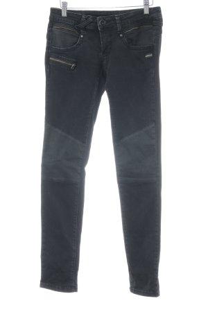 Gang Skinny Jeans schwarz-anthrazit Street-Fashion-Look