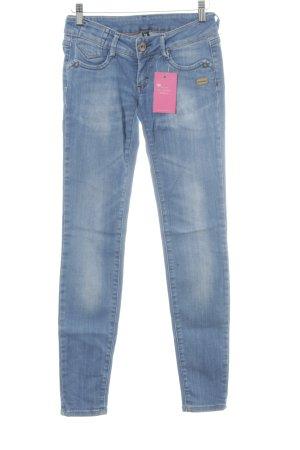 Gang Skinny Jeans stahlblau-hellbeige Casual-Look