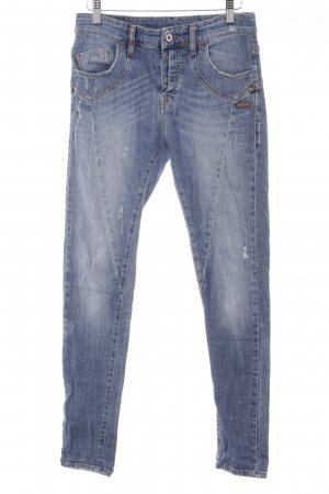 Gang Slim Jeans blau Used-Optik