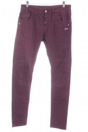 Gang Slim Jeans bordeauxrot extravaganter Stil