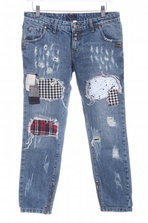 Gang Slim Jeans dunkelblau Destroy-Optik