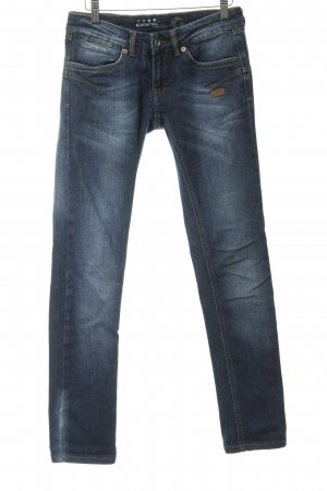 Gang Slim Jeans dunkelblau Washed-Optik