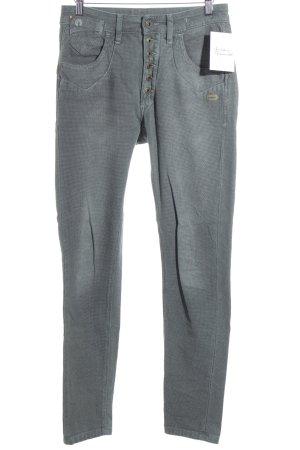 Gang Slim Jeans grau-graugrün Karomuster Casual-Look