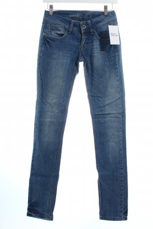 Gang Slim Jeans kornblumenblau-wollweiß Used-Optik