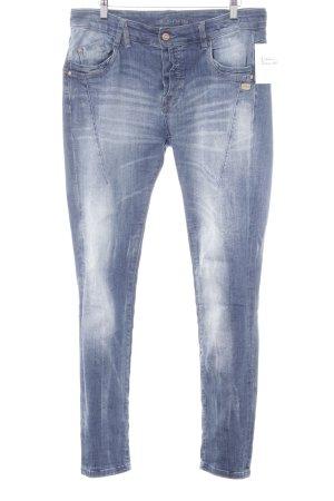 Gang Slim Jeans stahlblau-dunkelblau Street-Fashion-Look
