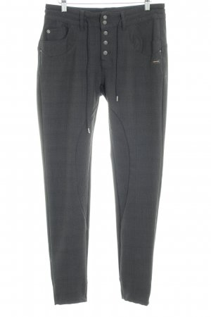 Gang Stoffhose anthrazit Glencheckmuster Casual-Look