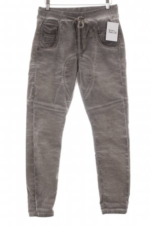 Gang Stoffhose grau Washed-Optik