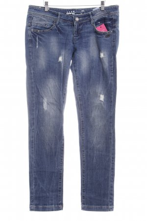 Gang Straight-Leg Jeans blau Destroy-Optik
