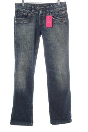 Gang Straight-Leg Jeans dunkelblau Casual-Look