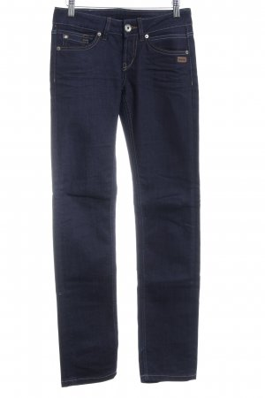 Gang Straight-Leg Jeans dunkelblau Casual-Look