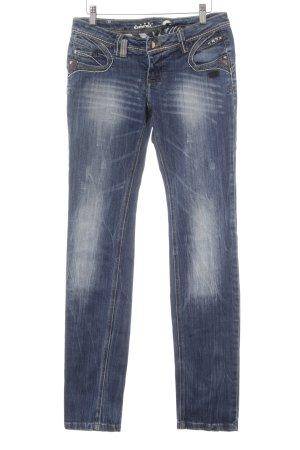 Gang Straight-Leg Jeans dunkelblau-stahlblau Casual-Look