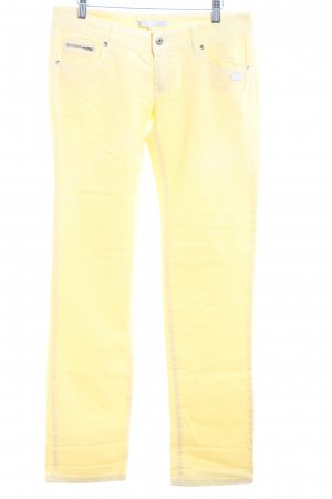 Gang Straight-Leg Jeans hellgelb Casual-Look