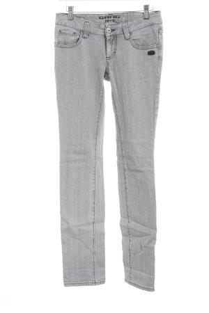 Gang Straight-Leg Jeans hellgrau Casual-Look