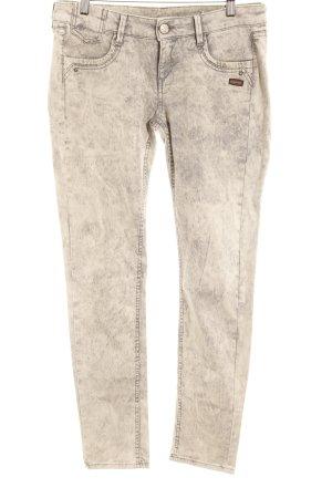 Gang Stretch Jeans hellbeige-hellgrau meliert Bleached-Optik